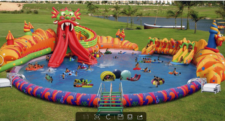 FU-WS43 Dragon Water Inflatable Slide