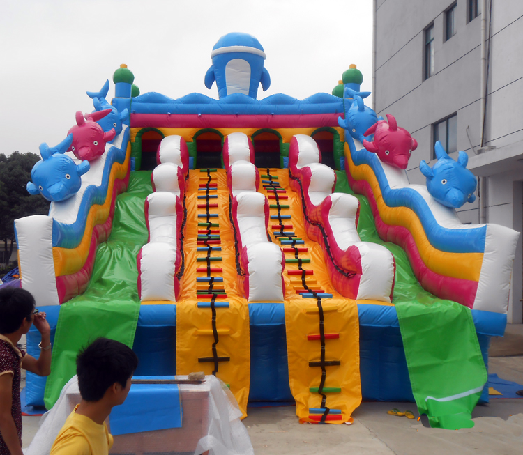 FU-WS22 Dolphin Water Inflatable Slide
