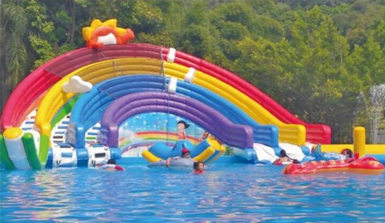 FU-WS31 RainBow Water Inflatable Slide