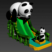 FU-GS53 Panda Dry Inflatable Slide
