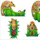FU-GS59 Lizard Dry Inflatable Slide
