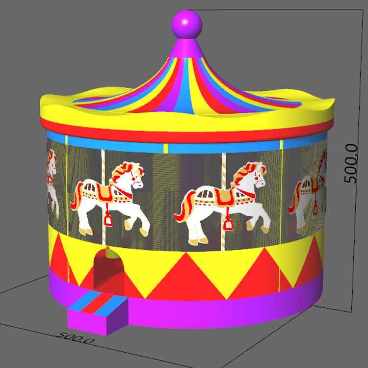 FU-BO52 Circus Round Inflatable Bouncer
