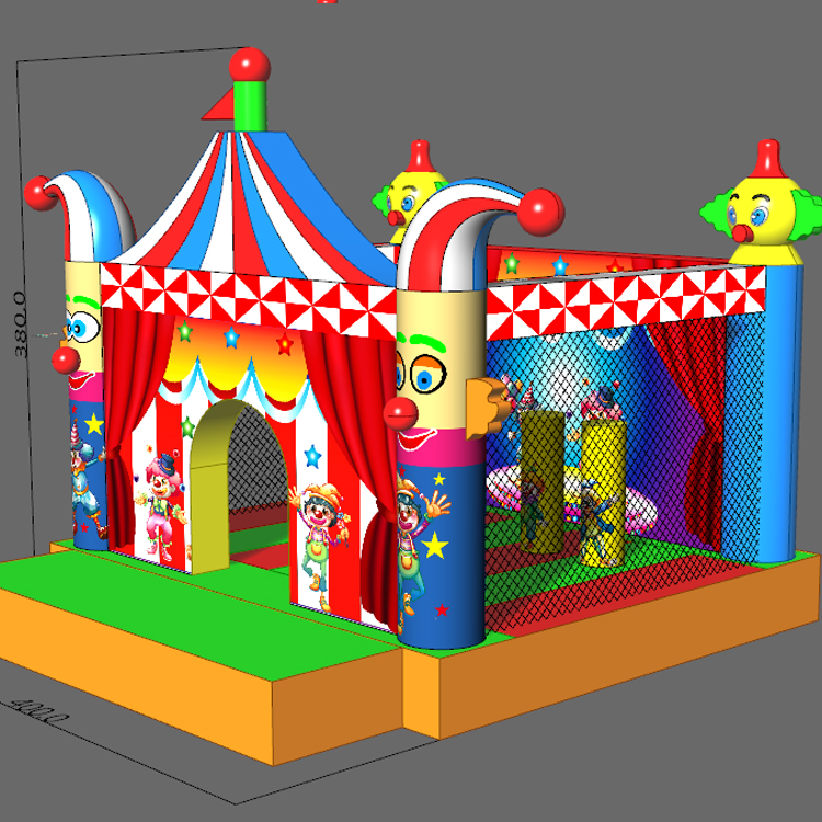 FU-BO53 Clown Pattern Inflatable Bouncer