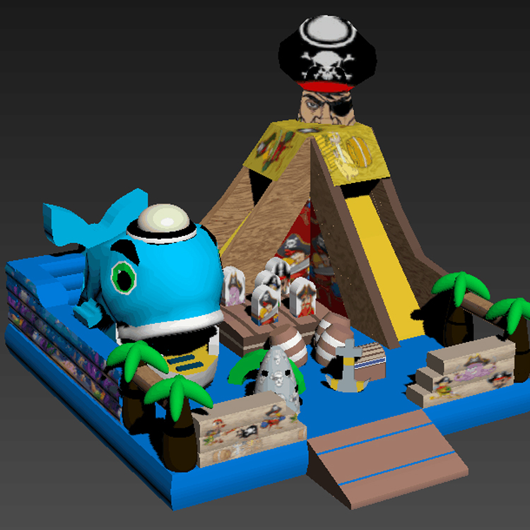FU-FC24 Pirate Inflatable City Jump