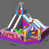 FU-FC70 Circus Inflatable Jump City