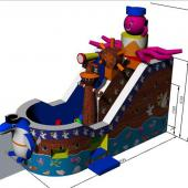 FU-FC72 Pirate Inflatable Jump City