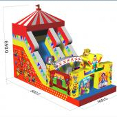 FU-FC74 Circus Inflatable Slide Jump City