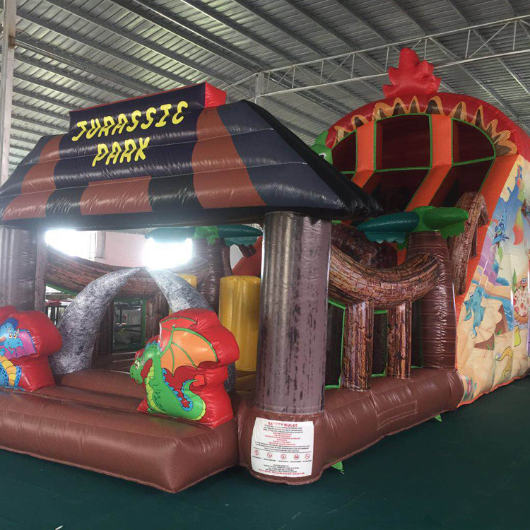 FU-GS29 Jurrssic Park Inflatable Grass Slide