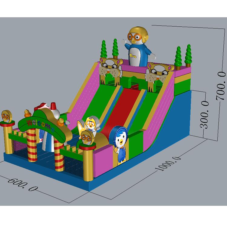 FU-GS64 Inflatable Grass Jump Slide