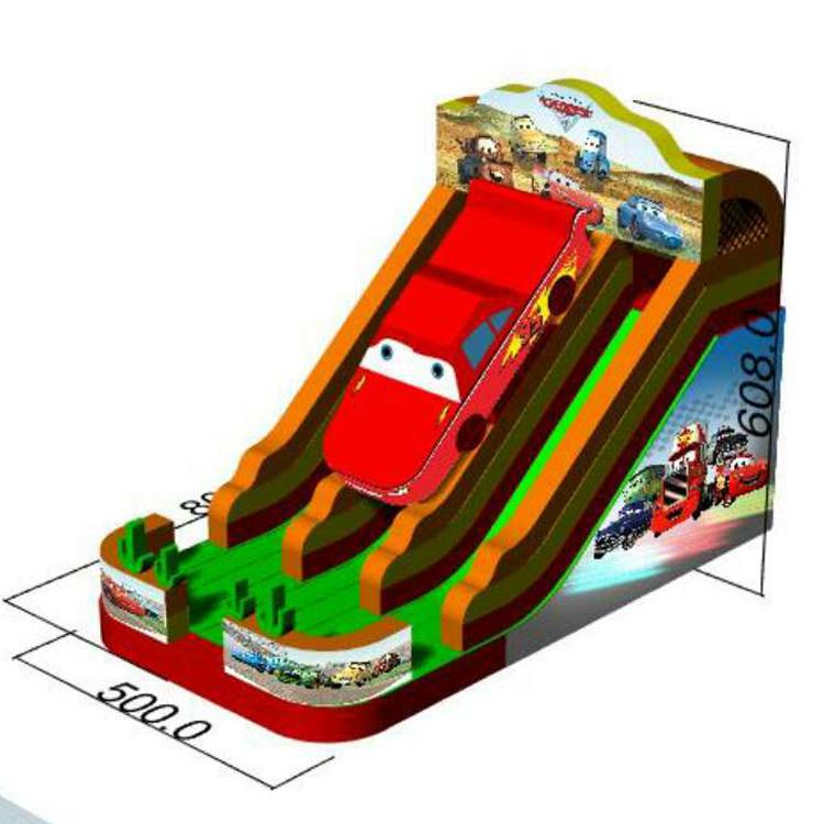 FU-GS67 Car Infatable Grass Slide