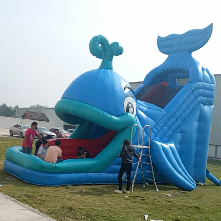 FU-GS68 Whale Inflatable Grass Slide