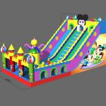 FU-GS70 Mickey Big Inflatable Grass Slide