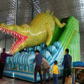 FU-GS65 Crocodile Infatable Grass Slide