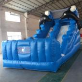 FU-GS09 Small Dolphin Inflatable Grass Slide