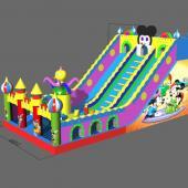 FU-GS70 Mickey Big Inflatable Grass Slide
